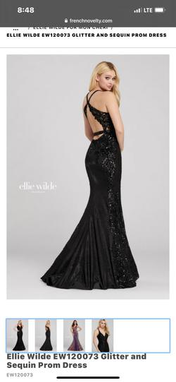 Style nan Ellie Wilde Black Size 4 Pageant Short Height Backless Mermaid Dress on Queenly