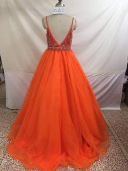 Orange Size 4 Train Dress on Queenly
