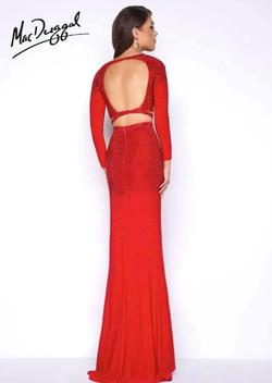 Mac Duggal Red Size 8 Two Piece Pageant Straight Dress on Queenly