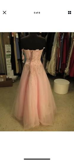 Style 40342 Sparkle Pink Size 14 Prom Strapless A-line Dress on Queenly
