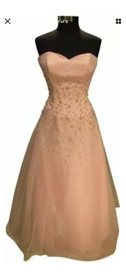 Queenly size 14 Sparkle Pink A-line evening gown/formal dress