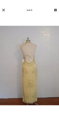 Sean Collection Yellow Size 10 Tulle A-line Dress on Queenly