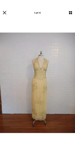 Queenly size 10 Sean Collection Yellow A-line evening gown/formal dress