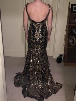 Jovani Black Size 2 Prom Backless Mermaid Dress on Queenly