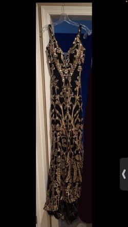 Queenly size 2 Jovani Black Mermaid evening gown/formal dress