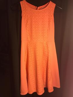 Xhilaration Orange Size 12 Interview Pageant Cocktail Dress on Queenly