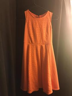 Queenly size 12 Xhilaration Orange Cocktail evening gown/formal dress