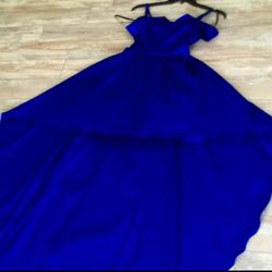 B. Smart Blue Size 8 Train Pageant A-line Dress on Queenly