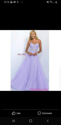 Queenly size 0 Blush  Purple Straight evening gown/formal dress