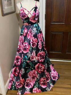 Queenly size 2  Multicolor Ball gown evening gown/formal dress