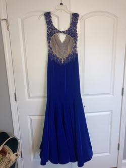 Sherri Hill Blue Size 6 Prom Tall Height Mermaid Dress on Queenly