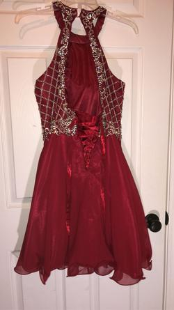 Queenly size 12  Red Cocktail evening gown/formal dress