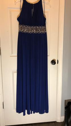 Queenly size 14  Blue A-line evening gown/formal dress