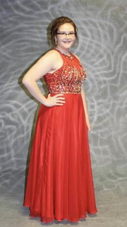 Queenly size 12 Juliet Red A-line evening gown/formal dress