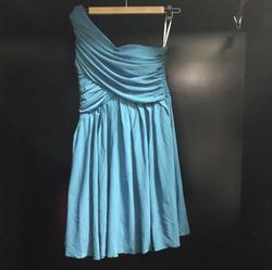 DressADay Blue Size 6 Bridesmaid Cocktail Dress on Queenly