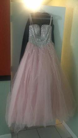 Queenly size 4 Mori Lee Pink Ball gown evening gown/formal dress