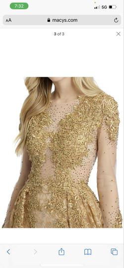Mac Duggal Gold Size 12 Lace Ball gown on Queenly