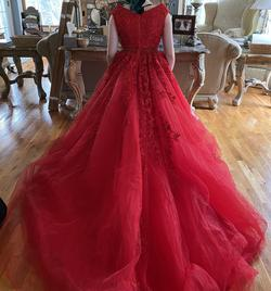 Sherri Hill Red Size 2 Prom Lace Ball gown on Queenly
