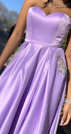 Tiffany Designs Purple Size 0 Sweetheart Ball gown on Queenly