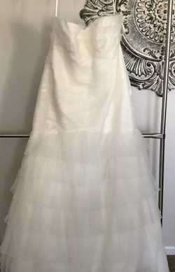 Queenly size 28  White Train evening gown/formal dress