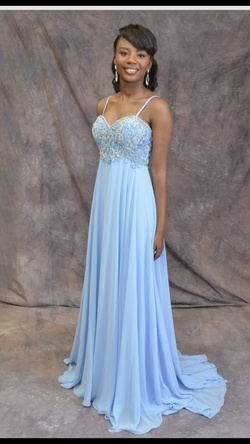 Queenly size 00 Alyce Paris Blue A-line evening gown/formal dress