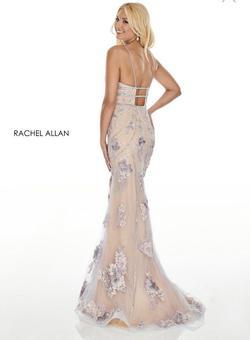 Rachel Allan Purple Size 8 Plunge Short Height Mermaid Dress on Queenly