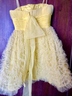 Sherri Hill Yellow Size 0 Strapless Cocktail Dress on Queenly