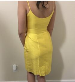 Kate Spade Yellow Size 0 Silk Graduation Cocktail Dress on Queenly