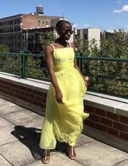 Queenly size 00 International Ladies Garment Workers Union Yellow Ball gown evening gown/formal dress