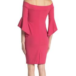 Bebe Red Size 2 Sleeves Bell Sleeves Interview Cocktail Dress on Queenly