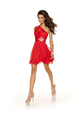 Mac Duggal Red Size 0 Sequin Silk Cocktail Dress on Queenly