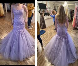Sherri Hill Purple Size 4 Light Pink Prom Pageant Mermaid Dress on Queenly