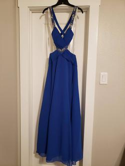 "Queenly size 2 ""b""""David's Bridal"""""" Blue A-line evening gown/formal dress"