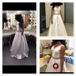 Jovani White Size 00 Prom Pageant Ball gown on Queenly