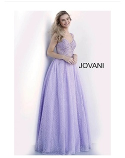 Queenly size 2 Jovani Purple Ball gown evening gown/formal dress