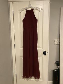 David's Bridal Red Size 6 Halter Straight Dress on Queenly