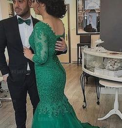 Queenly size 16  Green Mermaid evening gown/formal dress
