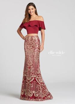Queenly size 8 Ellie Wilde Red Mermaid evening gown/formal dress