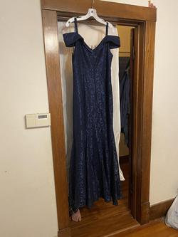 David's Bridal Blue Size 16 Straight Dress on Queenly