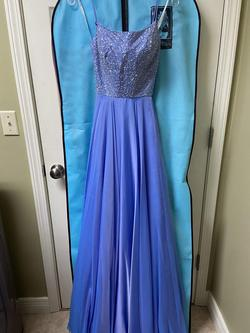 Queenly size 2  Blue A-line evening gown/formal dress
