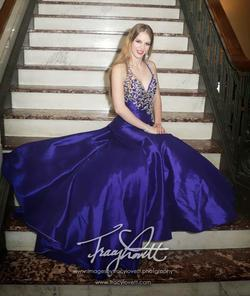 Queenly size 0 Ritzee Purple Mermaid evening gown/formal dress