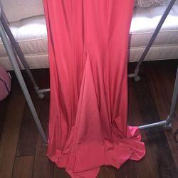 Orange Size 2 Straight Dress on Queenly