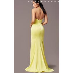 PromGirl Yellow Size 4 Prom Strapless Mermaid Dress on Queenly