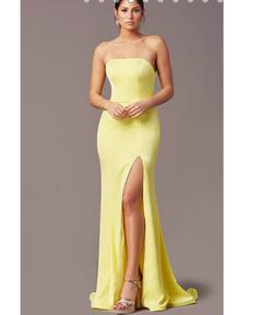 Queenly size 4 PromGirl Yellow Mermaid evening gown/formal dress