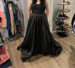 Queenly size 18  Black Straight evening gown/formal dress