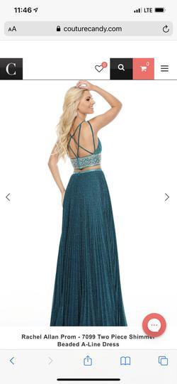 Rachel Allan Blue Size 6 Prom A-line Dress on Queenly