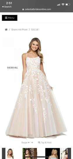 Sherri Hill White Size 6 Corset Train Dress on Queenly