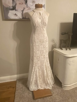 Queenly size 6 Nightway White Straight evening gown/formal dress