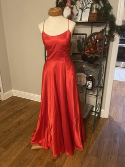 Queenly size 6 Sherri Hill Red A-line evening gown/formal dress