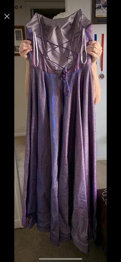 Alyce Paris Multicolor Size 10 Alyce Purple Train Dress on Queenly